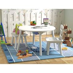kids table and chair sets / kids table wedding & kids table & kids table and chair sets & kids table and chairs & kids table diy & kids table wedding reception & kids table and chair sets diy & kids table wedding activities Toddler Play Table, Toddler Table And Chairs, Toddler Chair, Kid Table, Round Table And Chairs, Table And Chair Sets, Kids Furniture, Table Furniture, Ikea Hack Kids