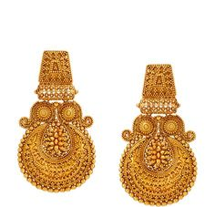Tanishq pays tribute to Rajputana tradition with The Padmaavat Collection. Bringing you a stunning rendition of jewellery from the movie padmaavat! Gold Jhumka Earrings, Jewelry Design Earrings, Gold Earrings Designs, Gold Jewellery Design, Jhumka Designs, Jewelry Art, Tanishq Jewellery, Silver Jewellery Indian, Gold Ring Designs