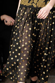 ✕ Suno Fall 2012 / #dots #gold #style