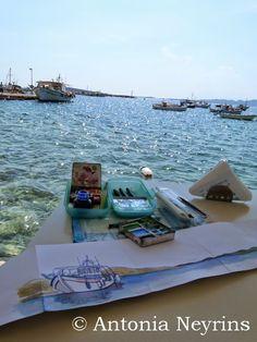 Carnet de voyage à Aliki, sur l'île de Paros, en Grèce.