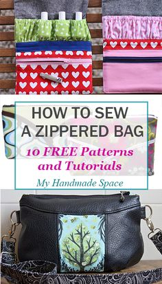7d9f2e4d4478 How to Sew a Bag: 10 FREE Patterns and Tutorials Diy Bags Patterns, Handbag