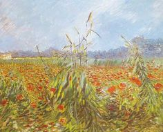 Vincent Van Gogh, Green Corn Stalks Fine Art Reproduction Oil Painting