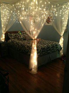 Led string lights decor girls bedroom 16 - Decoration World Bedroom Storage For Small Rooms, Room Ideas Bedroom, Home Bedroom, Bedroom Decor, Nautical Bedroom, Master Bedroom, Tween Girl Bedroom Ideas, Teenage Bedrooms, Neutral Bedrooms