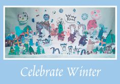 Celebrate Winter on front of 5 X 7 Greeting Card   With Warm Wishes text inside of Greeting Card     100% of ALL SALES go to the UCB Preschool. set of 10/$10     The art work on this card was done especially for you by the talented   kids from the United Church of Broomfield,   UCB Preschool, and Kohl Street Kids.     Buy some and send out the love.
