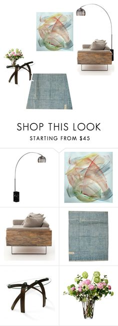 """""""Double Space"""" by rhymingscapes on Polyvore featuring interior, interiors, interior design, home, home decor, interior decorating, Pangea, Magnussen Home and LSA International"""