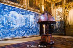 Coro, meeting place of the nuns, completed between 1746 and 1759 - Coro, lugar de reunião das freiras, concluído entre 1746 e 1759    #azulejo #portugal #portuguese #art