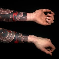 i like horimono. - forearm sleeve tonight! #tattoo #Japanesetattoo...