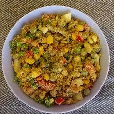 Farofa de legumes com ovos