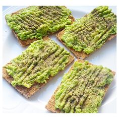 Ryvita dark rye crackers with avo garlic granules & black pepper for lunch by thatirishvegangirl