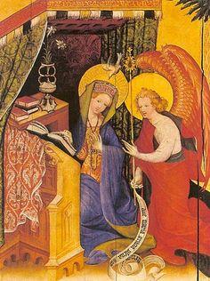 Konrad von Soest, (German 1394-1422): Anunciación.