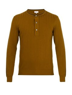 Brioni Crew-neck Cotton-blend Sweater In Brown Joey Tribbiani, Brown Sweater, Crew Neck, Slim, Mens Fashion, Lifestyle, Knitting, Sweaters, Cotton