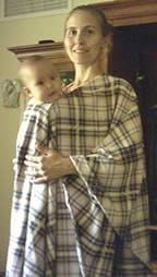 Another babywearing poncho -all one piece instead of something you have to tie. Instructions are a little hard to follow.