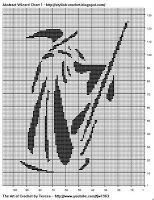 Free Filet Crochet Charts and Patterns: Filet Crochet Abstract Wizard - Chart 1