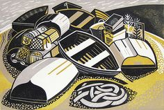Beached - Linocut by Clare Curtis