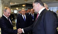 """The Ukrainian president, Petro Poroshenko, announced on Wednesday that he and Russian president, Vladimir Putin, have agreed to a ceasefire in eastern Ukraine. However, a spokesman for Putin apparently denied any such deal had been made, as """"Russia is not a party to the conflict""""."""