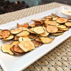 Zucchini Chips that burn more calories to eat than they contain.