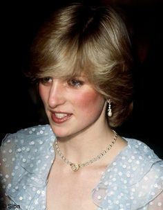 """October 29, 1982: Princess Diana at a charity performance by the Welsh National Opera of Mozart's """"The Magic Flute"""" at the New Theatre, Cardiff."""