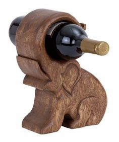 Elephant Wood Wine Holder (With images) Bandsaw Projects, Wood Projects, Woodworking Projects, Wood Wine Holder, Wine Bottle Holders, How To Varnish Wood, In Vino Veritas, Wood Toys, Scroll Saw