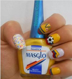 28 Ideas For Manicure Sencillo Azul Manicure Steps, Red Manicure, Gel Nails, Nail Polish, Cute Nails, Pretty Nails, Nailart, Blue Tips, Coffin Nails