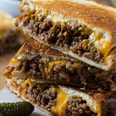 Sloppy Joe Grilled Cheese Recipe - RecipeChart.com