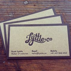 LyttleCo Business Card..I love the look of the texture #business #cards #Identity #Branding #Personal #Idea #Inspiration