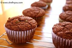 Spiced Pumpkin Bran Muffins. I'm making these right now! I used yogurt and 1/4 cup flaxseed instead of raisins.