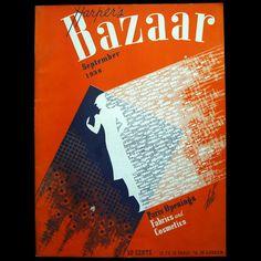 1936 'Harper's Bazaar' September illustrated by Erte Leave Art, Magazine Cover Design, Harpers Bazaar, Popular Culture, Fabric, Claire, Magazines, Vogue, Graphics