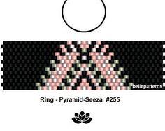 peyote ring pattern,PDF-Download, #255R, beading pattern, beading tutorials, ring pattern