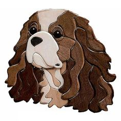 king_charles_cavalier_intarsia - Google Search