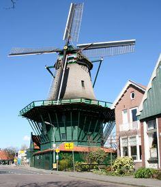 Flour mill De Bleeke Dood, Zaandijk, the Netherlands.
