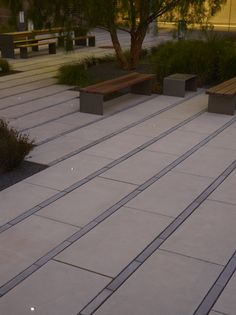 Paving pattern - UCSF Cardiovascular Research Building by Andrea Cochran Landscape Architecture, via Behance Contemporary Landscape, Urban Landscape, Landscape Design, Garden Design, Landscape Plaza, Landscape Materials, Landscape Lighting, Modern Landscaping, Landscaping Tips