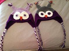 crochet adult owl hats