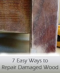 7 easy ways to repair damaged wood furniture, without having to fully refinish or redo the entire surface of the piece. Do It Yourself Furniture, Furniture Repair, Do It Yourself Home, Furniture Projects, Furniture Making, Furniture Makeover, Painted Furniture, Diy Furniture, Homemade Furniture