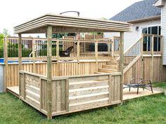 pergola bois traité au style actuel Deck, Actuel, Porch, Sweet Home, Shed, Outdoor Structures, Pool Ideas, Recherche Google, Style