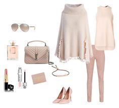 """Saturday blushing warm X"" by lijalinn on Polyvore featuring Yves Saint Laurent, Christian Dior, Monica Vinader, Burberry, Chanel, Arma, Chicwish, Topshop and Alexander Wang"