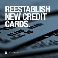 Credit-Tip-Tuesday!  Start with secured credit cards (available even to those with terrible credit), and slowly move to unsecured ones.