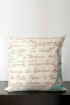 Scipt pillow