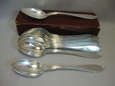 Silver Plate Qty 12 Desert Serving Table Spoons Prima NS Sweden  #Unknown $17.99