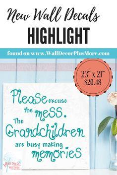 """23""""x21"""" Grandchildren wall vinyl decal sticker ~  FREE SHIPPING! #grandchildren #walldecals"""