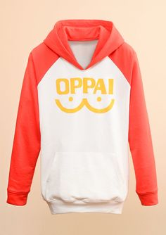 Inspired by Anime series One Punch Man Saitamas Oppai hoodies as seen in the anime series. The pictures was taken from the actual product : ) This