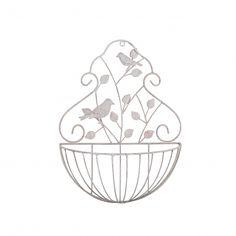 Small Bayeux Decorative Cream Metal Garden Wall Planters Garden Wall Planter, Wall Planters, Planter Pots, Baskets On Wall, Wall Decor, Cream, Metal, Wall Hanging Decor, Creme Caramel