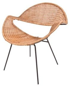 Rattan Chair Attr. to Terence Conran