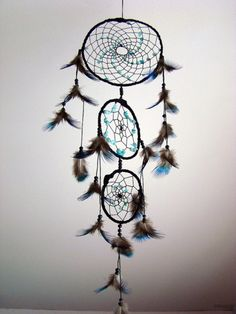 Natural Mystic shop - #Dream #Catcher with amazonite and peacock feathers :)