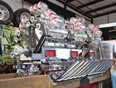 24 cylinder, multi-supercharged diesel engine!
