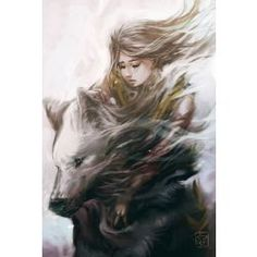 Girl and Wolf by vitellan on DeviantArt - Fantasy is a part of our life. Acquirer you accept it or you read it wavy all your life …. Wolf Spirit, Spirit Animal, Wolf Love, Anime Wolf, Foto Art, Fantasy Characters, Character Inspiration, Amazing Art, Illustration