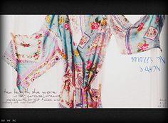 Kimono Robe. Knee Length. Silk Road Sweet.