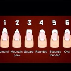 Nail Shape Guide...#5 is my favorite