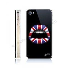COQUE IPHONE 4/4S LIPS 3D LONDON - J MOATTI
