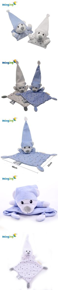 2016 Baby Care Appease Towels Newborn Gift Cute Bear Soft Square Infant Reassure Saliva Hand Towel Bear Blankie Baby Toy