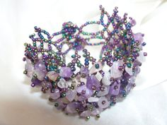 UNIQUE gorgeous shades of purple bracelet with by colourfulrose, $15.90